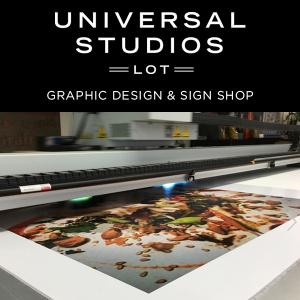 UNIVERSAL STUDIOS GRAPHIC DESIGN & SIGN SHOP
